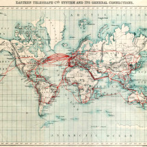 Eastern Telegraph System Map Infographic