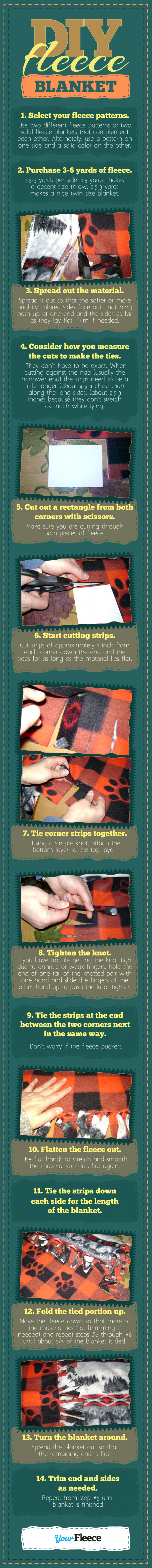 Easy DIY No Sew Fleece Blanket