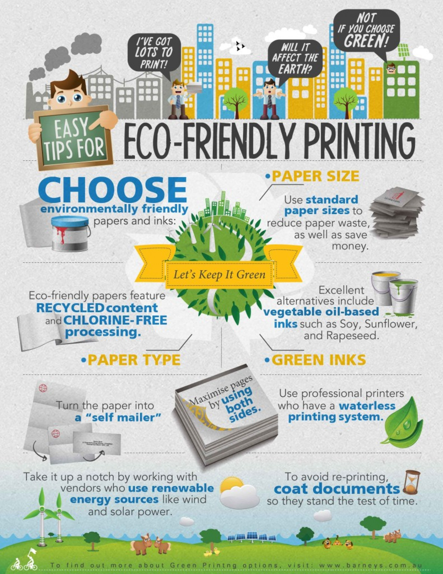 Easy Tips for Eco-Friendly Printing Infographic
