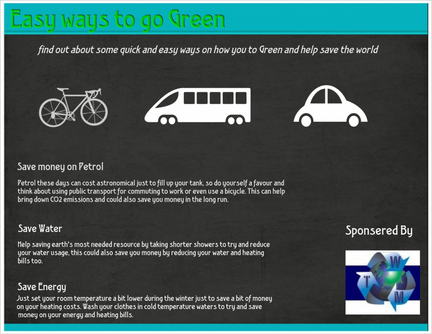 Easy ways to go Green Infographic
