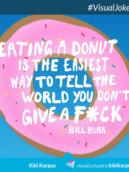 Eating a Donut Infographic