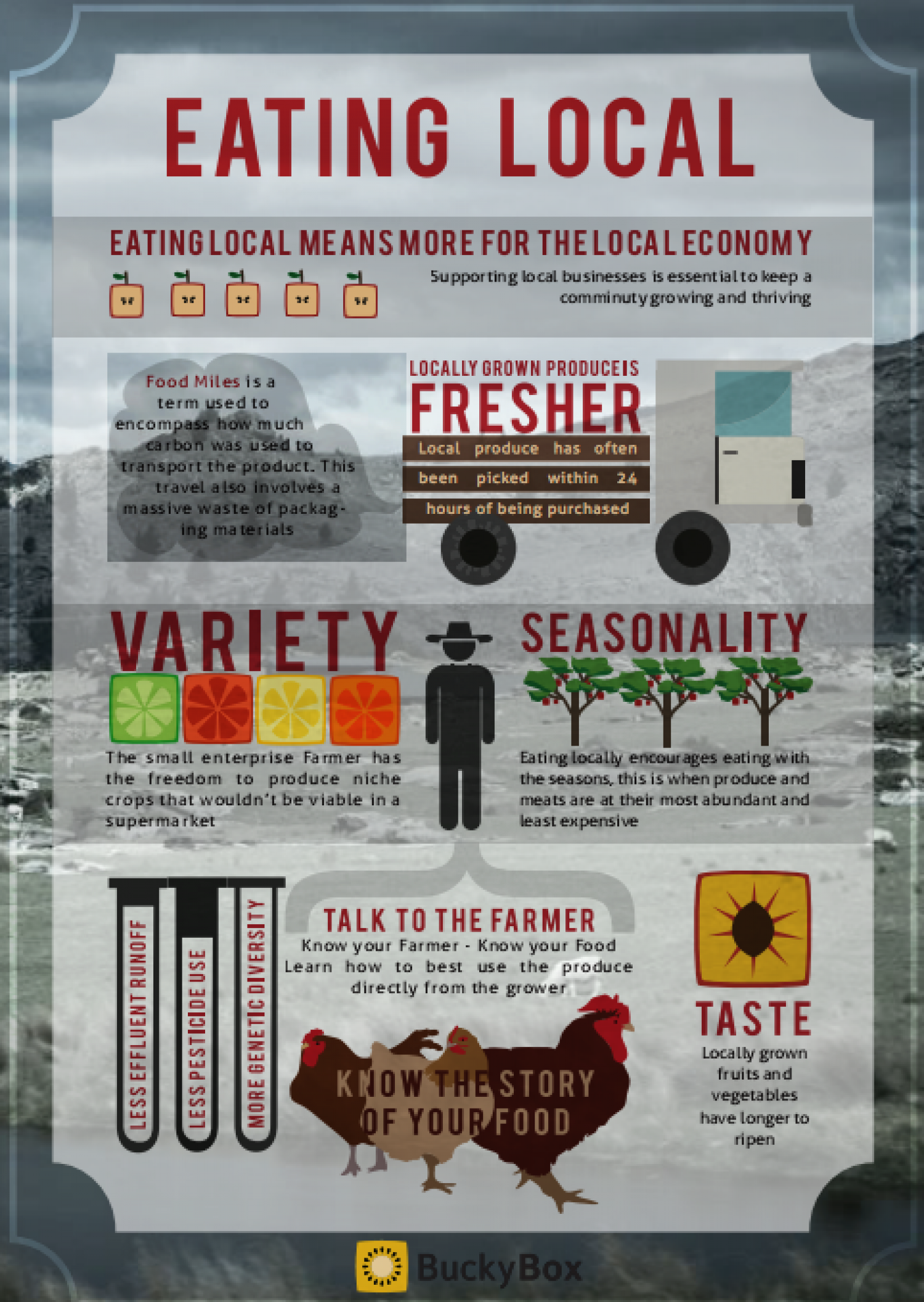 Eating Local Infographic