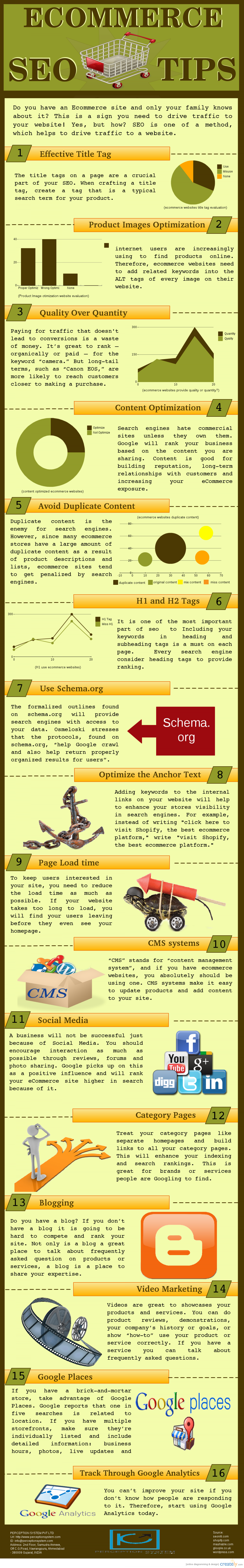 Ecommerce SEO Tips Infographic