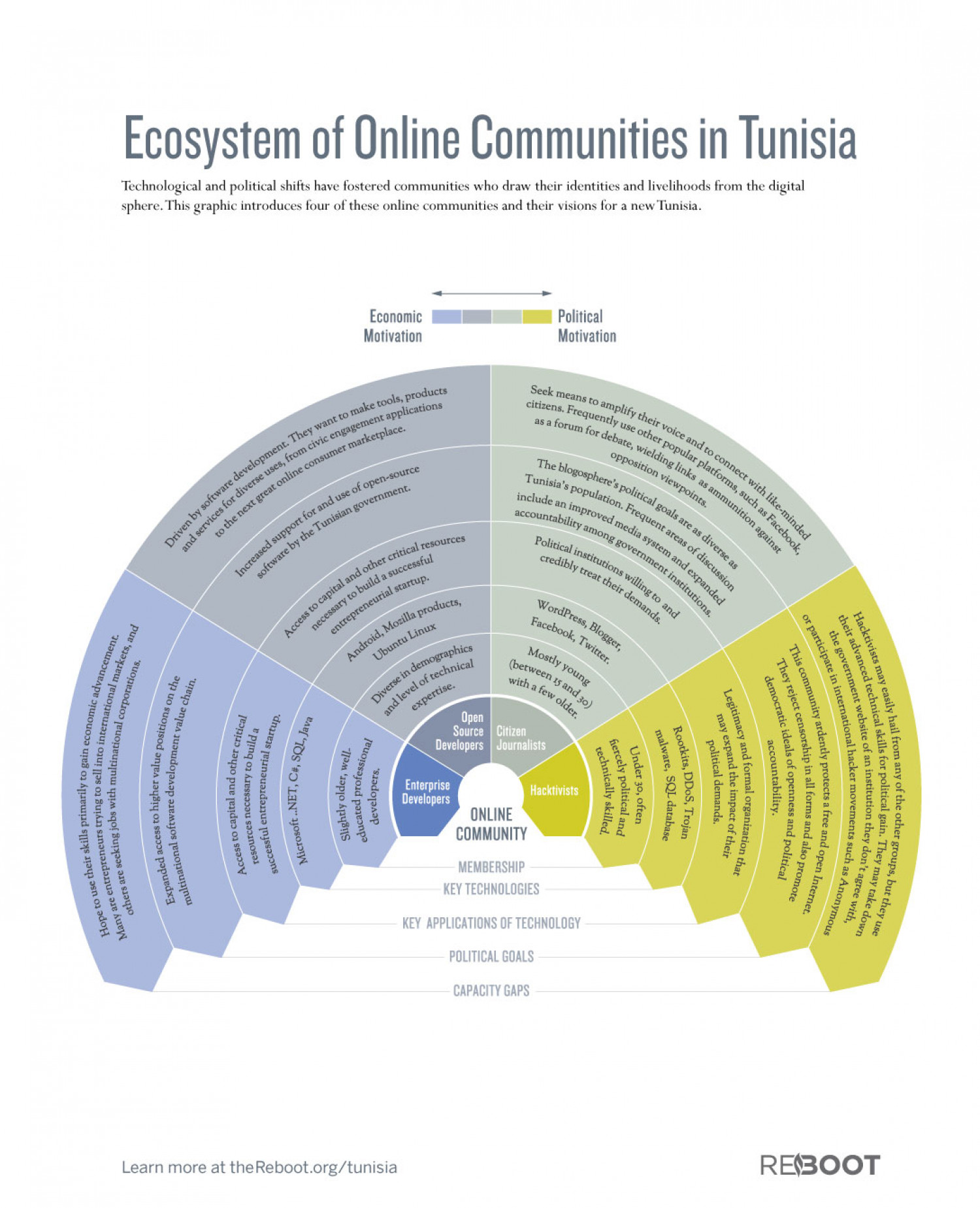 Ecosystem of Online Communities in Tunisia Infographic