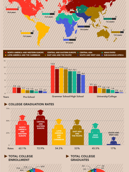 Education Levels Around the World Infographic