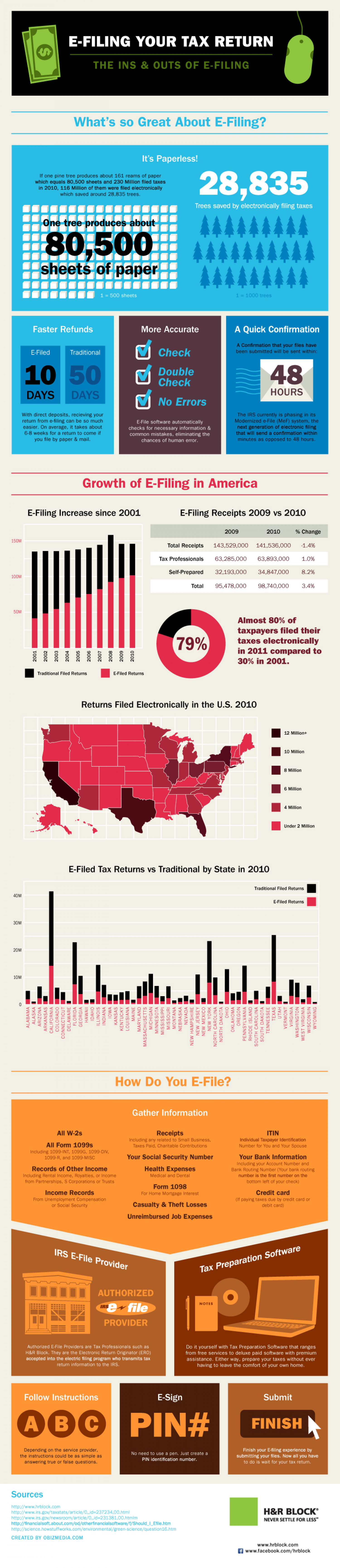 E-Filing Your Taxes: A Look at The Numbers  Infographic