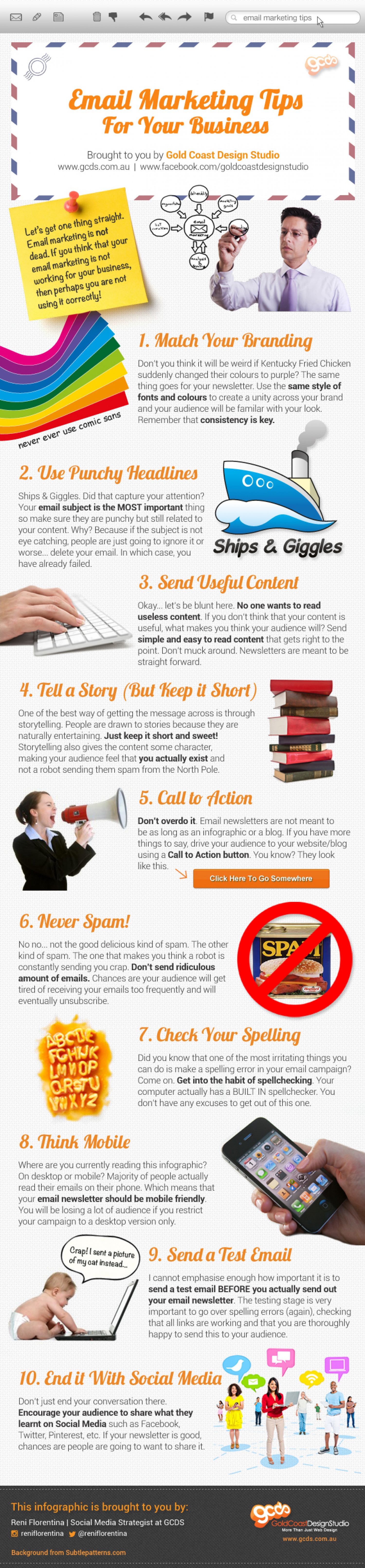Email Marketing Tips For Your Business Infographic