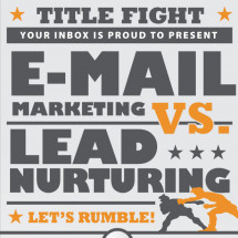 Email Marketing vs. Lead Nurturing Infographic