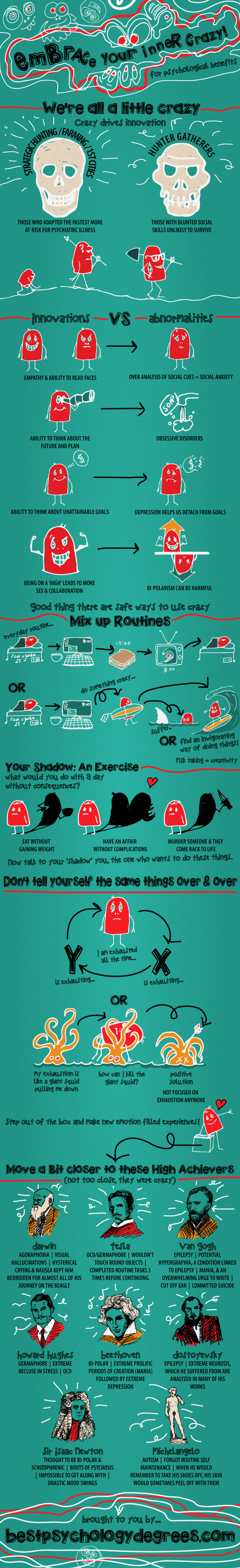 Embrace Your Inner Crazy Infographic