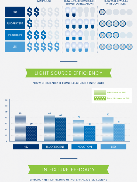 Energy Efficient Lighting Infographic