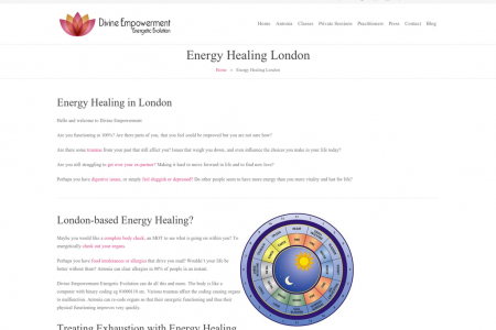 Energy Healing London Infographic