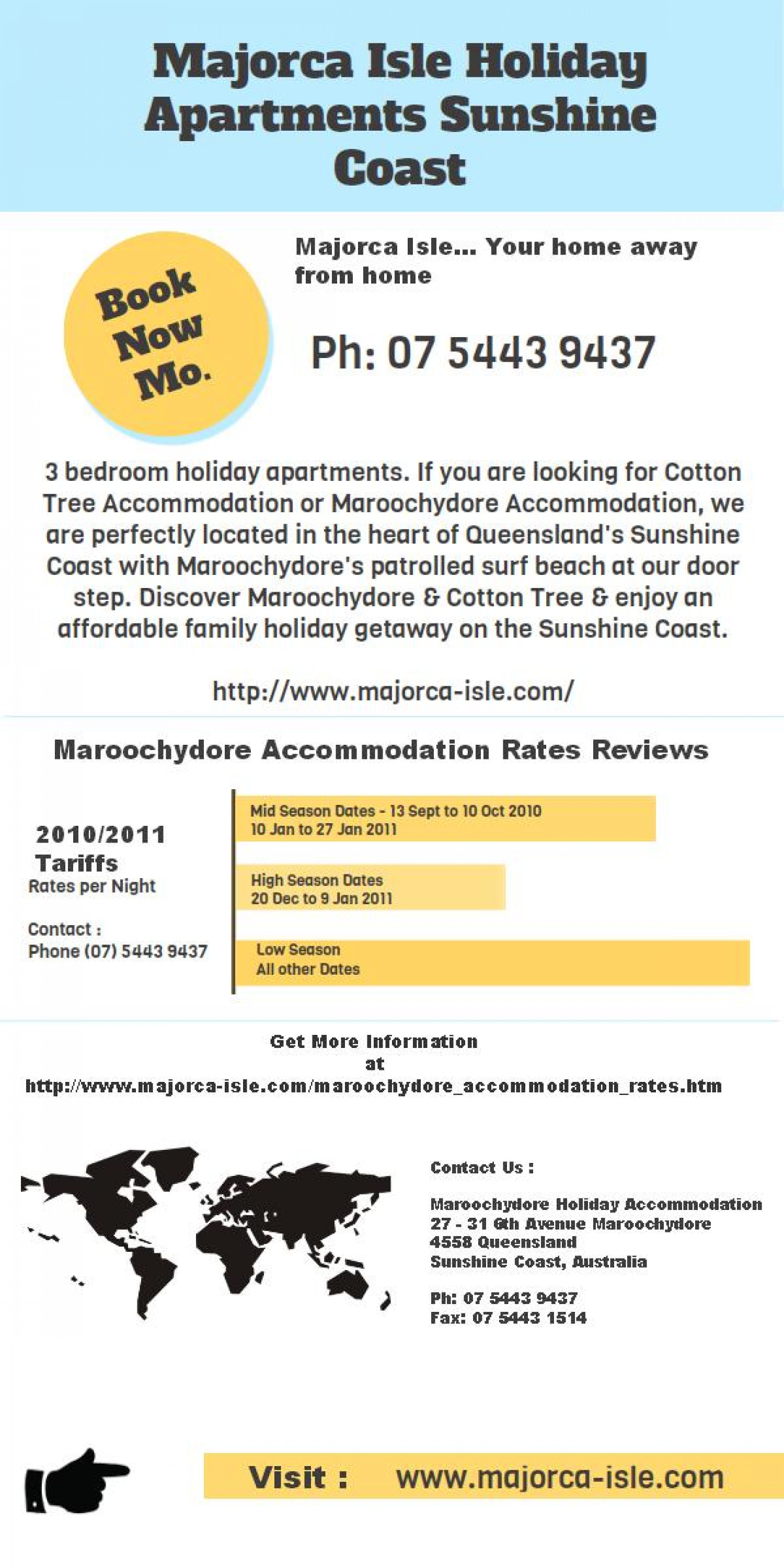 Enjoy Your Stay At Maroochydore Accommodation Infographic