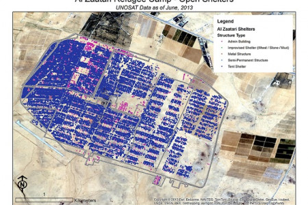 Environmental Geospatial Statistics of Zaatari Refugee Camp Infographic