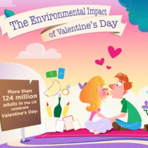 Environmental Impact of Valentine's Day Infographic