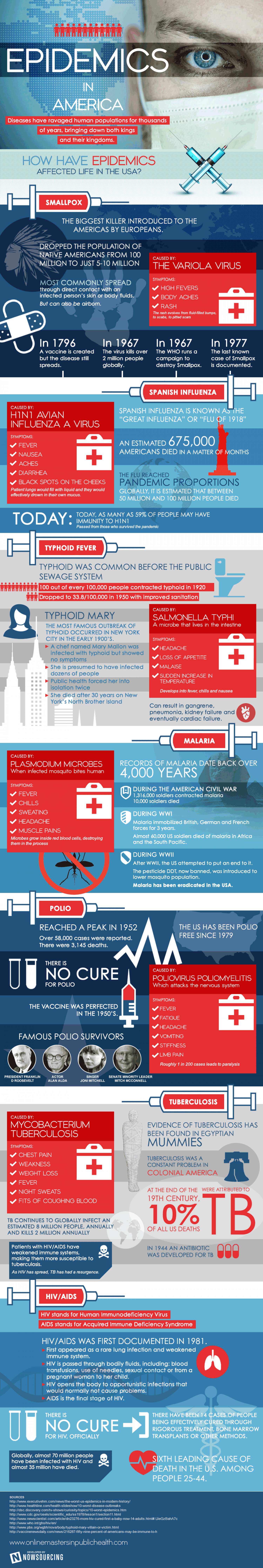 Epidemics in America Infographic
