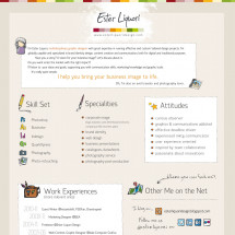 Ester Liquori Design Visual Resume Infographic