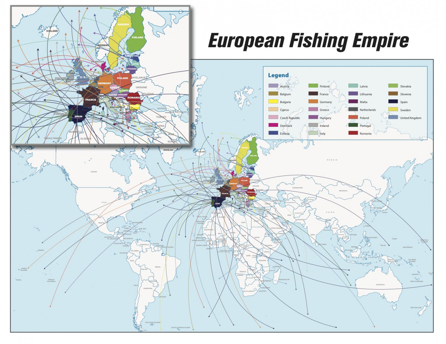 Europe's Bad Habit of Fishing for Jobs Infographic