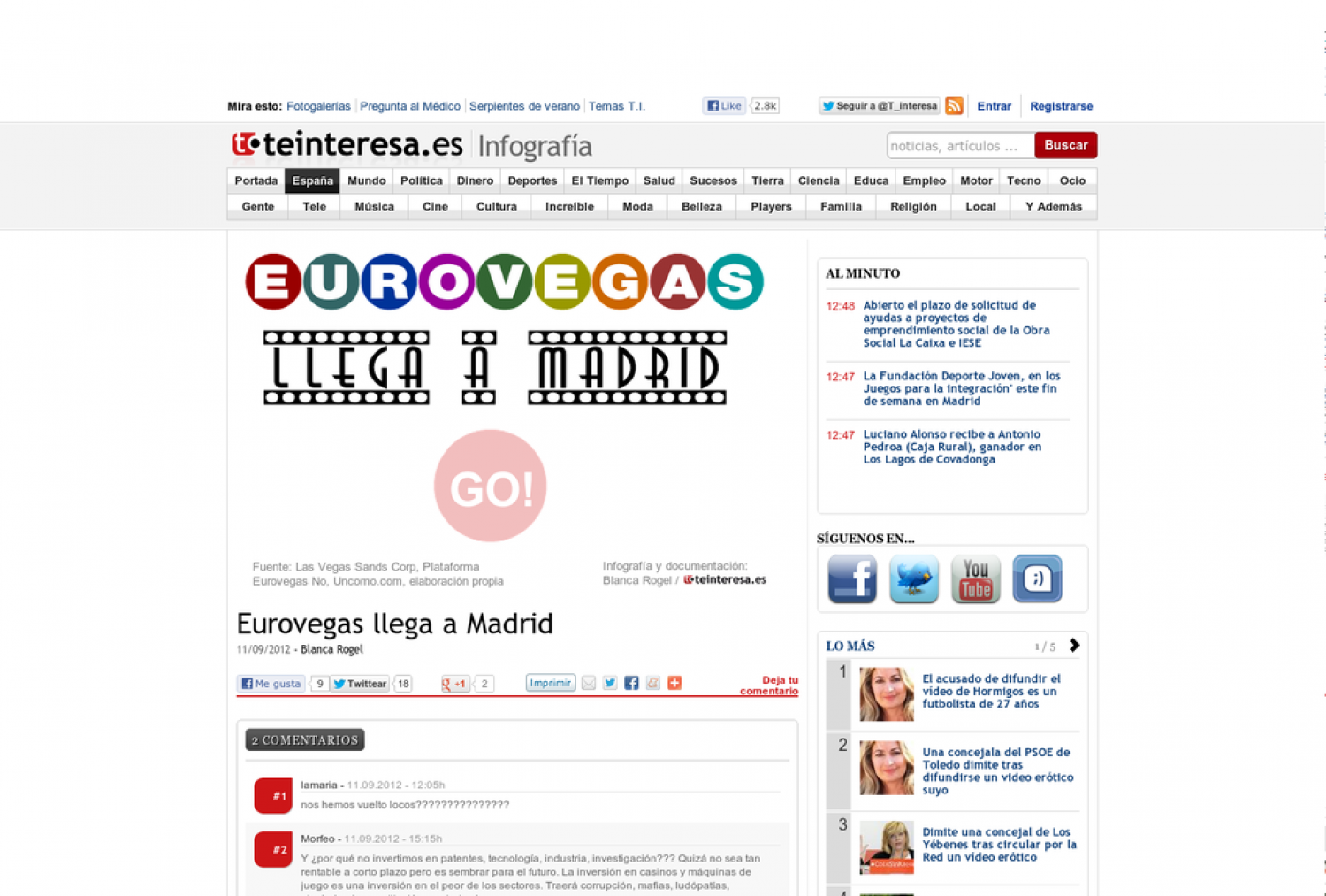 Eurovegas comes to Madrid Infographic