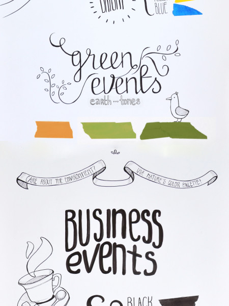 Events in Color Infographic