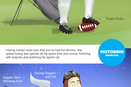 Every dad is a Super Dad - but which one is yours? Infographic