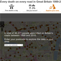 Every death on every road in Great Britain 1999-2010 Infographic