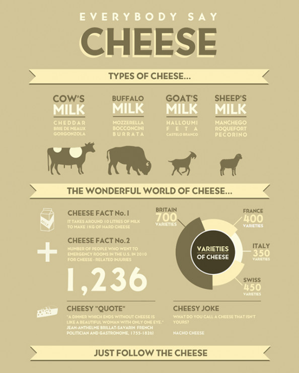 Everybody Say Cheese Infographic