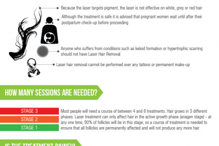 Everything You Need To Know About Laser Hair Removal Infographic