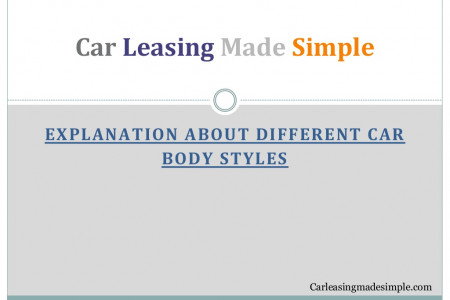 Explanation about different car body styles Infographic