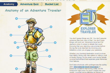 Explorer Travel: An Extreme Guide to the World  Infographic