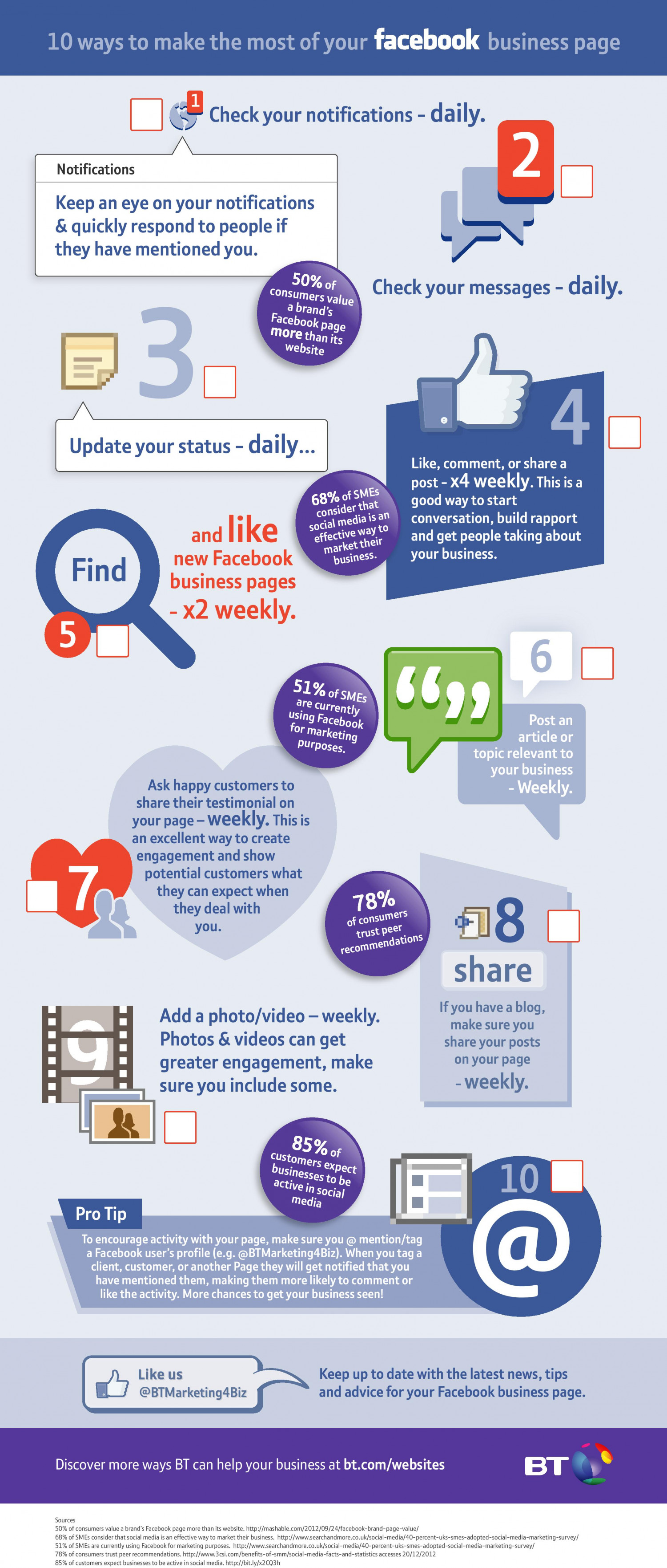 Facebook checklist Infographic