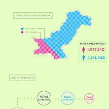 Facebook Demographics of Pakistan Infographic