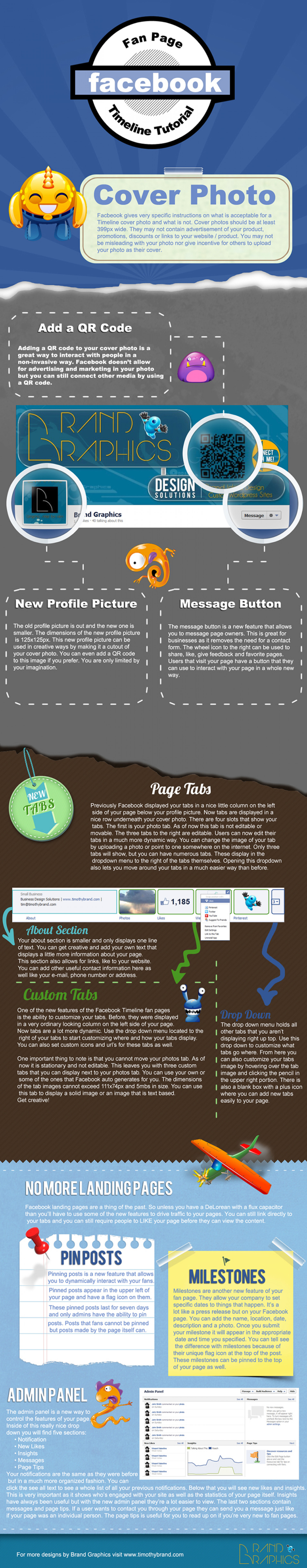 Facebook Fan Page Timeline Tutorial Infographic