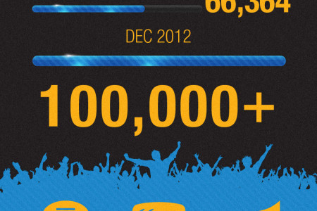 Facebook fans and Twitter followers Statistics Infographic