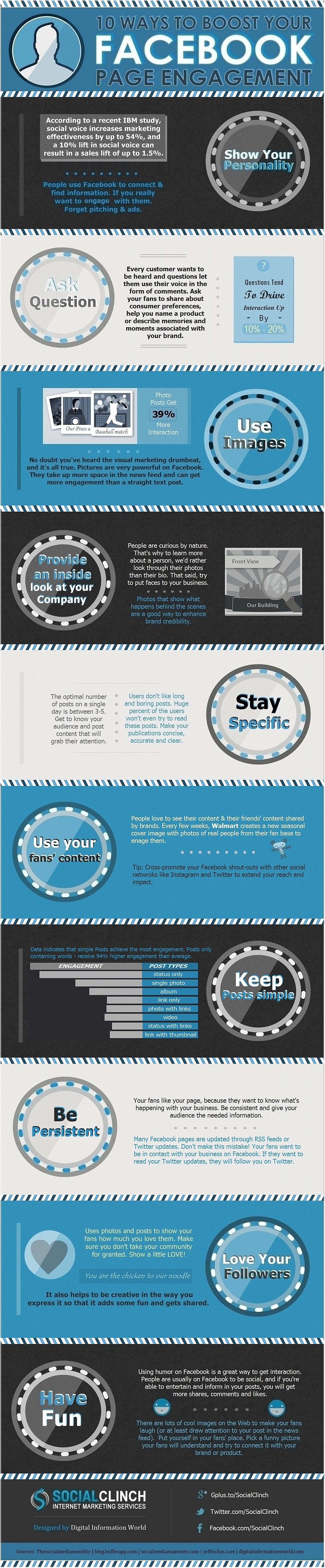10 Ways To Boost Your Facebook Page Engagement [infographic]