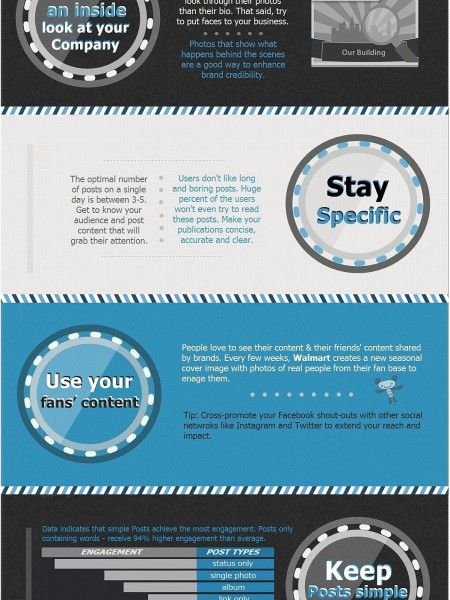 10 Ways to Boost your Facebook Page Engagement Tips Infographic