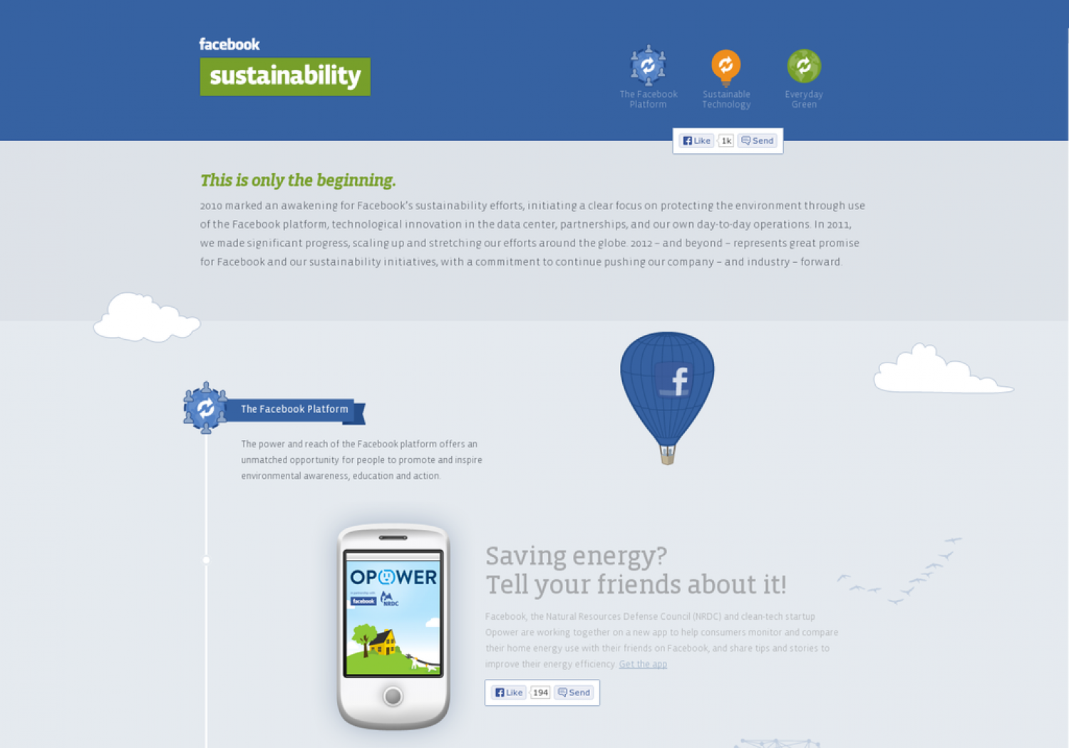 Facebook Sustainability Infographic