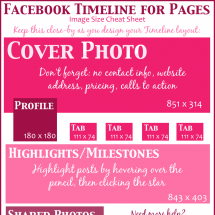 Facebook Timeline Image Cheat Sheet Infographic