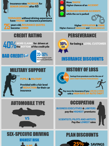 Factors That Determine Your Insurance Premiums Infographic