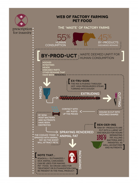 Web Of Factory Farming Pet Food Infographic