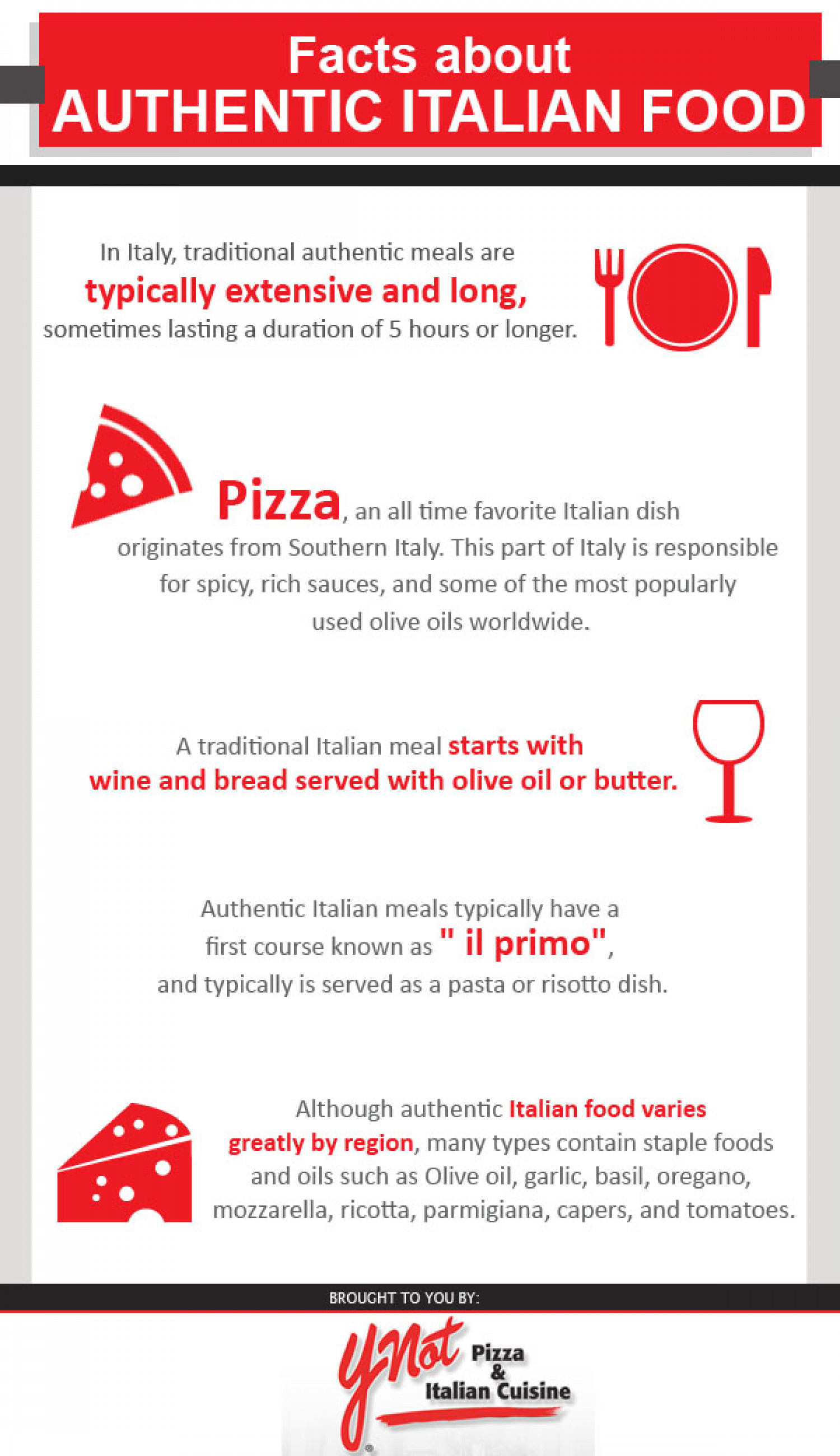 Facts About Authentic Italian Food Infographic