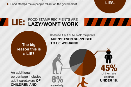 Facts About Food Stamps and SNAP Infographic