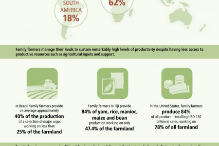 Family Farmers: Feeding the world, caring for the earth Infographic
