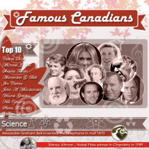 Famous Canadians - Virtual Hall of Fame Infographic