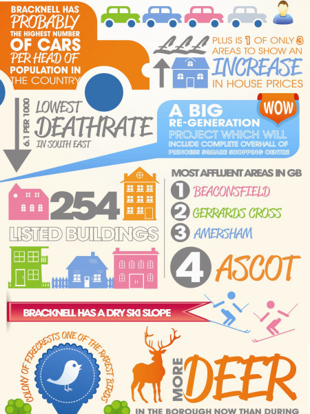 Fascinating Facts About The Town of Bracknell, UK Infographic