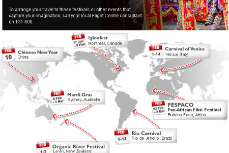 February Festivals Around the World Infographic