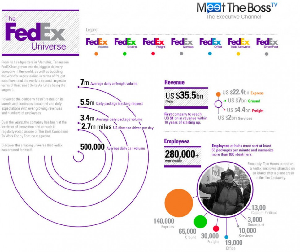 Fedex on Living to Deliver Infographic