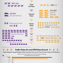 FedEx versus UPS  Infographic