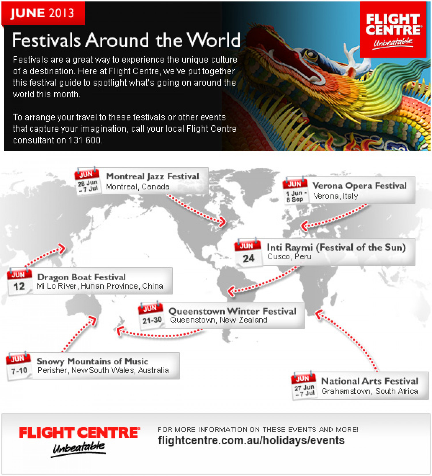 Festivals Around the World in June Infographic