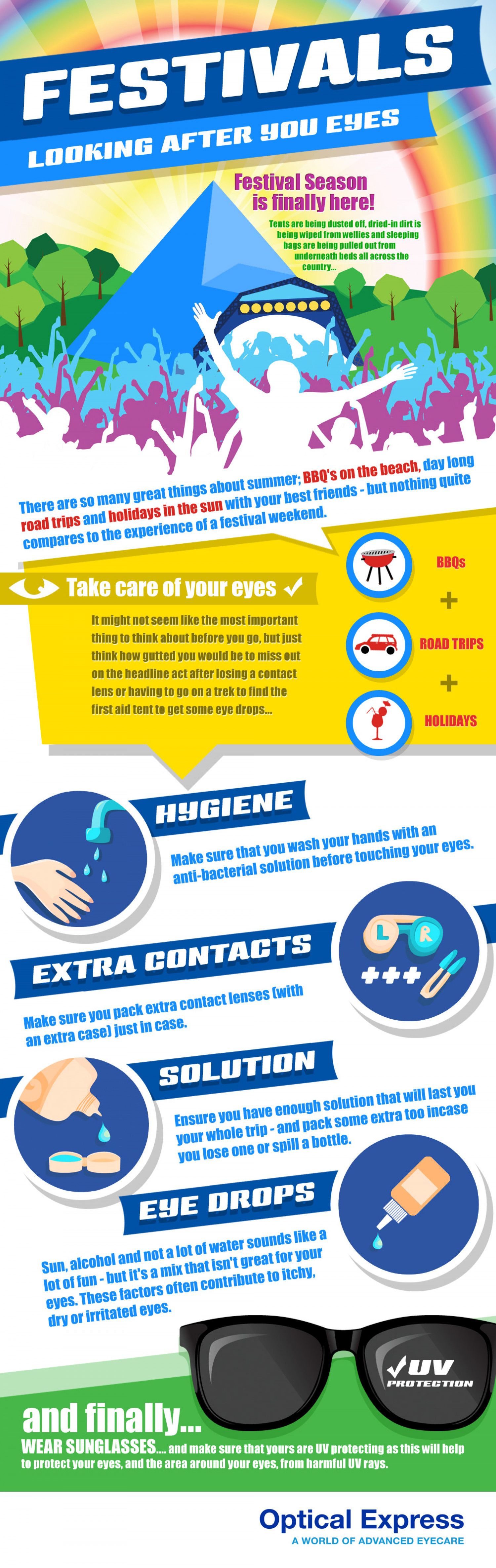 Festivals! Looking After Your Eyes... Infographic