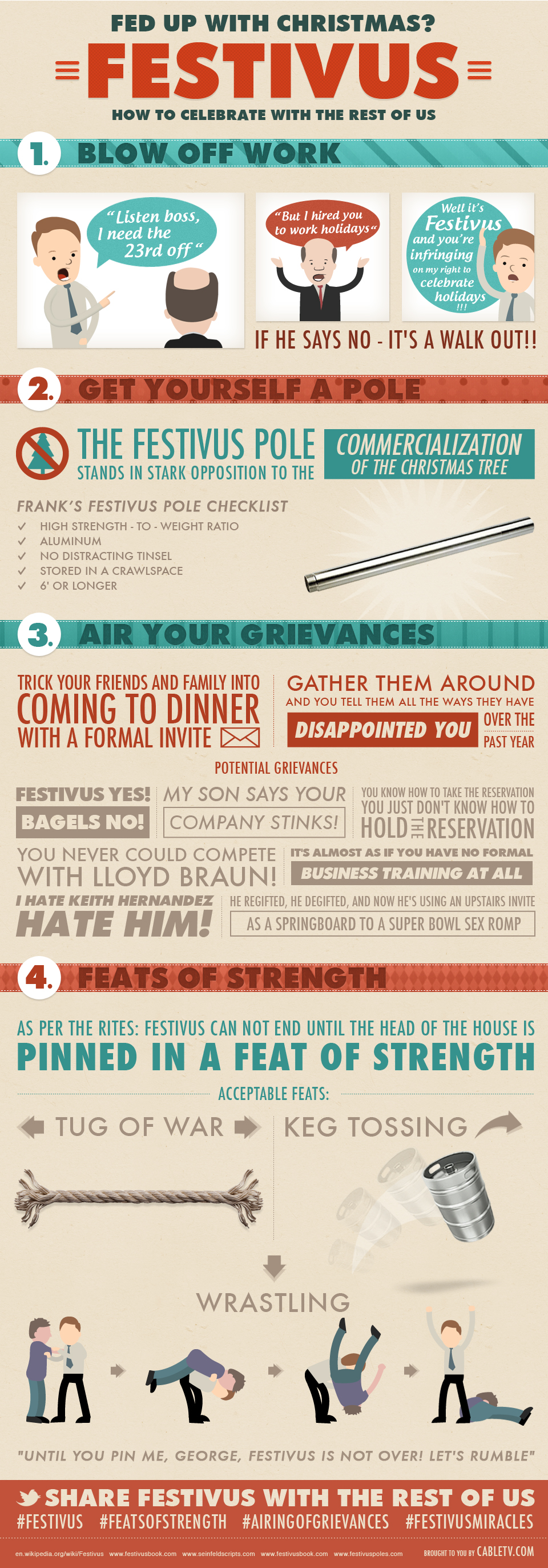Festivus cards and prints for the cantankerous season nextdayflyers and last but not least heres a festivus infographic to use as your guide to a happy festivus season m4hsunfo